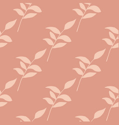 Floral seamless pattern with vintage brancj vector
