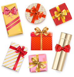 glossy gift boxes vector image