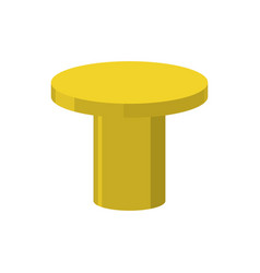 gold pedestal isolated stand for rewarding on vector image