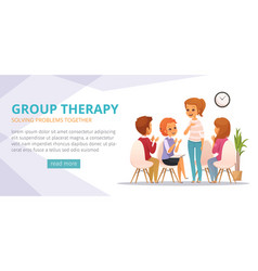 group therapy cartoon banner vector image