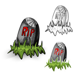 Halloween isolated spooky tombstones set vector