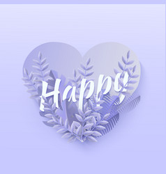 happy text natural design vector image