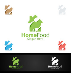 home food logo for restaurant or cafe vector image