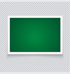 horizontal green chalkboard in neat plastic case vector image