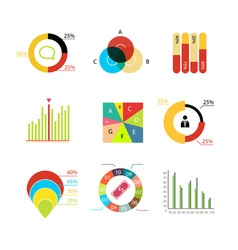 infographic elements Charts diagrams graphs vector image