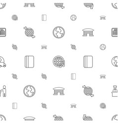 international icons pattern seamless white vector image