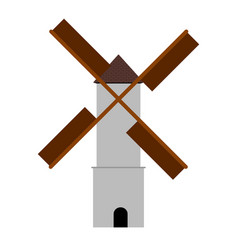 isolated windmill image vector image