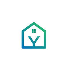 Letter y architect home construction creative vector