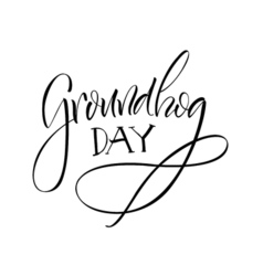 Lettering Groundhog Day vector
