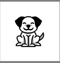 logo dog outline pet design on white background vector image