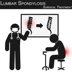 Lumbar spondylosis and surgical treatment vector