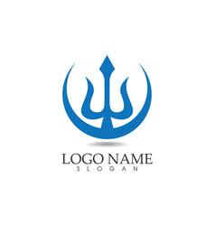 Magic trident logo and symbols template vector