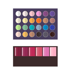 make up palette of eyeshadow vector image