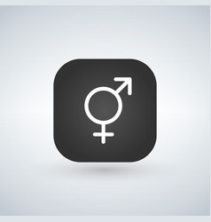 male and female icon or traditional sexuality vector image