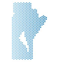 Manitoba province map honeycomb mosaic vector