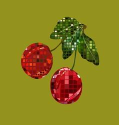 mosaic cherry vector image