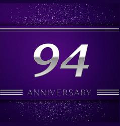 Ninety four years anniversary celebration design vector