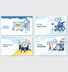 online marketing best web analytics tools vector image