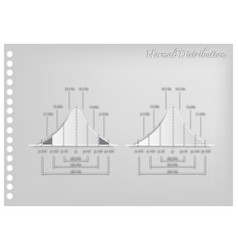 paper art of standard deviation diagram graph vector image