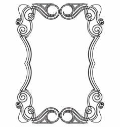 pattern for design frame vector image