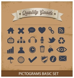 premium and simple pictograms set vector image