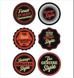 Premium quality retro badges collection black and vector