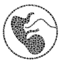 Prenatal collage of filled circles vector