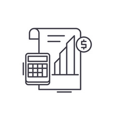profit report line icon concept profit report vector image