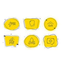 Quickstart guide swipe up and recovery file icons vector