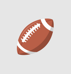 Rugby ball icon football american league vector