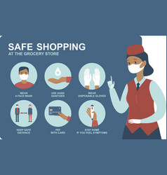 safe shopping during 2019-ncov pandemic vector image