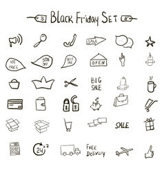 Sale icons theme vector