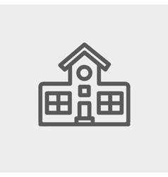 School building thin line icon vector image