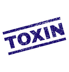 scratched textured toxin stamp seal vector image