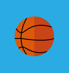 simple flat style basketball sport graphic vector image