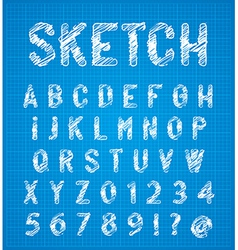Sketch alphabet set vector image