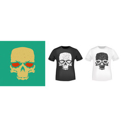 skull typography for t-shirt stamp tee print vector image