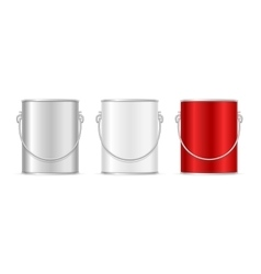 Steel Can Bucket Set vector image