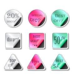 sticker set on a white background vector image