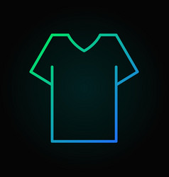t-shirt colored outline icon - shirt sign vector image