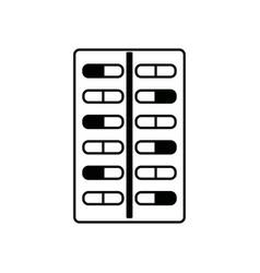Tablet antibiotic vitamin capsule packaging for vector