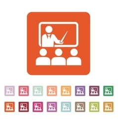 The training icon Teacher and learner classroom vector image