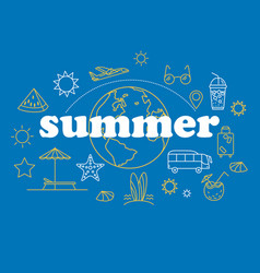 thin line style summer vector image