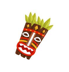 tiki tribal mask symbol of hawaii vector image