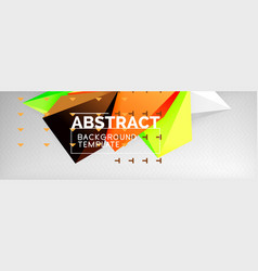 triangles polygonal background 3d poly vector image
