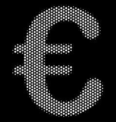 white pixelated euro symbol icon vector image