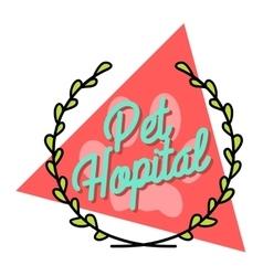 Color vintage veterinarian emblem vector image