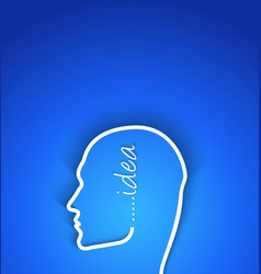 idea concept paper human face with shadow effect vector image