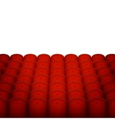 Red cinema or theater seats with white blank vector