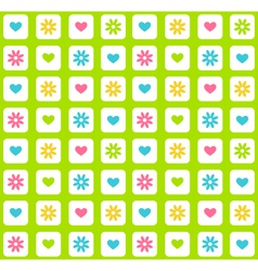 Seamless bright spring green abstract pattern with vector image vector image
